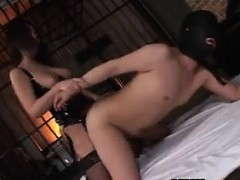 Hot Japanese Femdom Fucking With A Strap-On