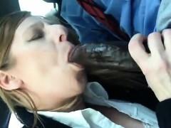 Quick BJ in the Car - Milf Sucks BBC