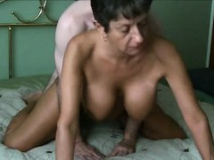 Hot Granny fucking a younger man on cam