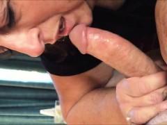 Experienced Grandma sucking a hard cock