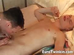 Euro twinks sensual hard fuck session
