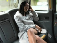 Naked ebony woman with big tits gets fucked by the driver