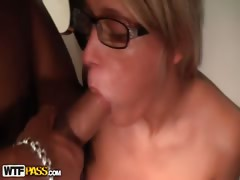 Amazing blowjob from a girl with piercing