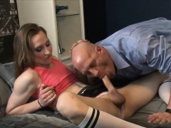 Neighbour eating brutal cock of tranny