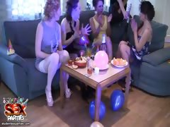 Pretty party girls lick wet pussies