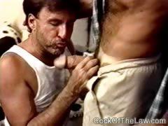 Handyman sucks and fucks a horny cop