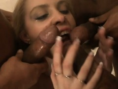 Tight Blonde Babe Pussy And Ass Screwed By Black Boners