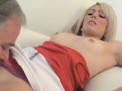 Delicious Young Sweetie Enjoys Rear Fuck With Old Stud