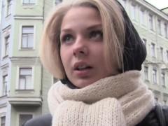 Petite Russian Brunette In Stockings