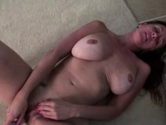 American housewife playing with herself