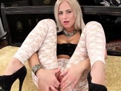 Sexy Czech Sweetie Spreads Her Spread Twat To The Bizarre
