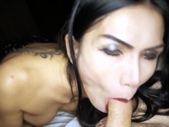 Whoring Ladyboy Bella Sucking Dick