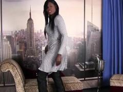 Bigtit Tgirl In Stockings Jerking Her Cock