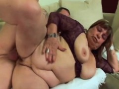 Chubby Granny Dominika Plays With Tits