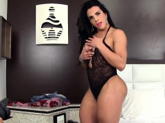 Two Guys Do An Erotic Photoshoot With A Tranny Tranny Gives