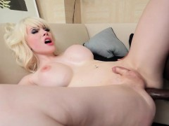 Bigtitted Transsexual Takes Cock In Tight Ass
