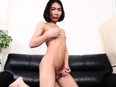 Smalltitted Ladyboy Spreads Ass In Solo Play