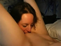 Lesbian amateur beauties pussy munching and fingering
