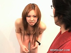 Gorgeous japanese dolls attending a funny sex contest