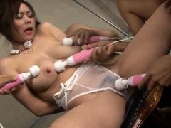 Big boobs Japanese Ren Mizumori cum on face in group scenes