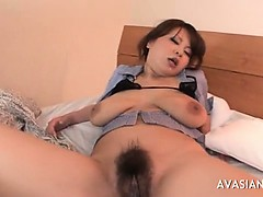 Asian babe and two guys