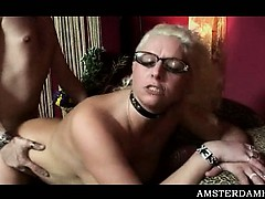 Mature Amsterdam hooker gets pierced twat nailed heavily