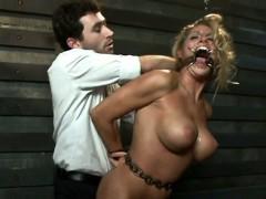 hard fucking tied up sexy blonde babe
