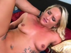 Tattooed blonde gets fucked in all different positions