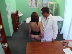 Young blonde patient gets fucked by her doctor