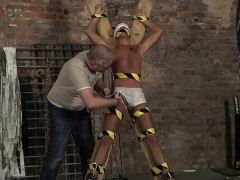 Male models Slave Boy Made To Squirt