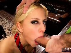 Gorgeous blonde Jessie Volt gets a thorough study session
