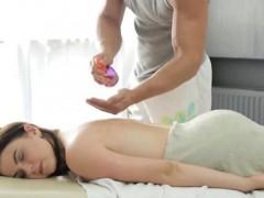 Big melon Russian nymph gets a voluptuous massage