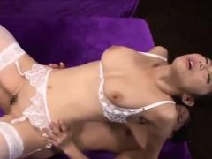 Japanese MILF in hardcore threesome sex