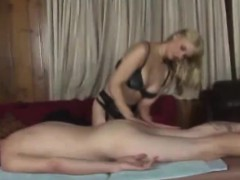 He Gets Sexy Massage From Blonde