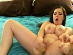 Cute And Busty Cam Girl Masturbates