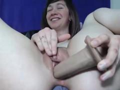 Sexy babe DP masturbation on Webcam