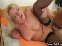 Granny suck and fuck with young man