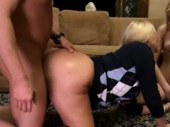 Horny Bombshells Nail The Pizza Guy With Thick Cock