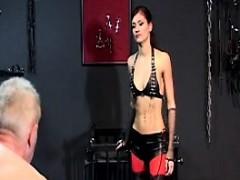 Masochist grandpa finds a beautiful 18yo mistress