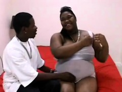 Pregnant black hooker fucked hard from behind