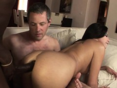 Black cock fucks wife and husband
