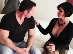 Bigtitted stepmom pussyfucked in taboo trio