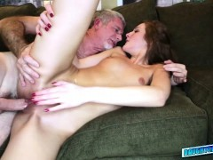 Horny Alexa Grace with a huge hard cock in her pussy