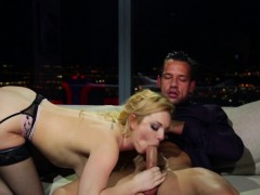 Inked girlfriend riding dick reversecowgirl