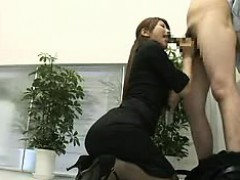 Pantyhosed Asian beauty with perfect tits and ass gives a h
