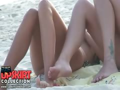 The camera man is enjoying the nice smooth legs of pretty