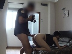 Spanish gal rimmed ass of policeman