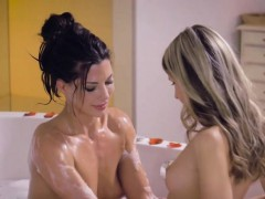 Two beautiful lesbians Alexa Tomas fucking in the shower