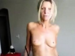 Slender cuckold wife spreads her openings to get a man that