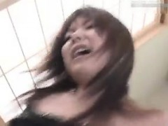 Cute Asian girl with a sublime ass braces herself for a har